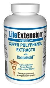 Super Polyphenol Extracts with CocoaGold (30 vegetarian capsules)* Life Extension