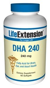 DHA 240 (60 softgels)* Life Extension