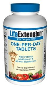 One-Per-Day Tablets (60 vegetarian tablets)* Life Extension