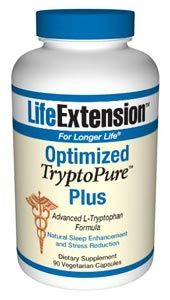 Optimized TryptoPure Plus (90 vegetarian capsules)* Life Extension