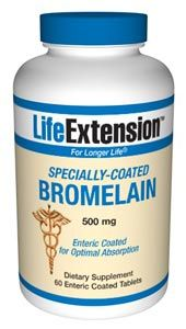 Specially-Coated Bromelain (60 enteric coated tablets)* Life Extension