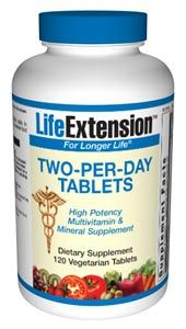 Two-Per-Day Tablets (120 vegetarian tablets)* Life Extension