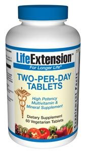 Two-Per-Day Tablets (60 vegetarian tablets)* Life Extension