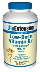 Low-Dose Vitamin K2 Menaquinone-7 (MK-7) (90 softgels)* Life Extension