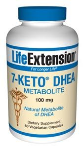 7-Keto DHEA Metabolite(100 mg, 60 vcaps)* Life Extension