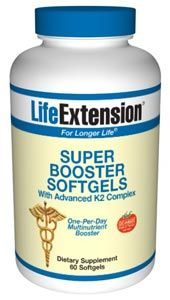 Super Booster Softgels with Advanced CED K2 Complex (60 softgels)* Life Extension