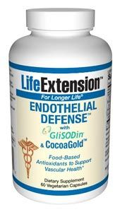 Endothelial Defense with GliSODin and CocoaGold (60 vegetarian capsules)* Life Extension