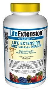 Life Extension Mix with Extra Niacin (315 tablets)* Life Extension
