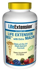 Life Extension Mix with Extra Niacin without Copper (315 tablets)* Life Extension
