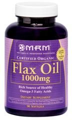 Organic Flax Oil (1000mg  90 gels) Metabolic Response Modifiers