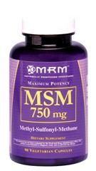 MSM  Methyl Sulfonyl Methane (750mg 90 caps) Metabolic Response Modifiers