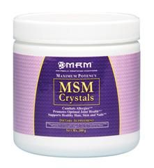 MSM Crystals (200 grams) Metabolic Response Modifiers
