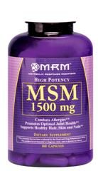High Potency MSM  Methyl Sulfonyl Methane (1500mg 160 caps) Metabolic Response Modifiers