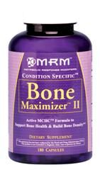Bone Maximizer II MCHC Complex (180 caps) Metabolic Response Modifiers