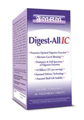 Digest-ALL IC 100% Plant Enzyme (60 Vcaps) Metabolic Response Modifiers