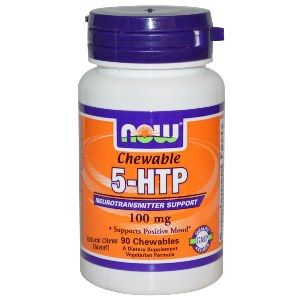 5-HTP 100mg 90 Chewables NOW Foods