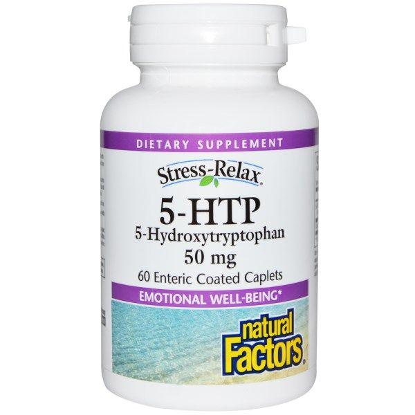 5 HTP | 5 Hydroxytryptophan 50 mg (60 Caplets)* Natural Factors