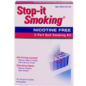 Stop-it Smoking Program (60 tablets + 45 lozenges) Natra-Bio