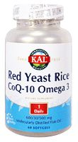 Red Yeast Rice CoQ-10 Omega 3 (60 softgel) KAL