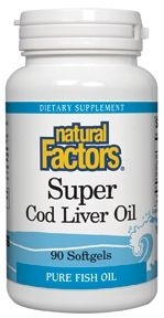 Super Cod Liver Oil  (90 softgels)* Natural Factors