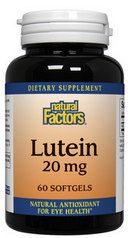 Lutein (20 mg 60 softgels)* Natural Factors