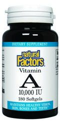 Vitamin A (10,000 IU 180 softgels)* Natural Factors