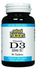 Vitamin D3 (2000 IU 90 tablets)* Natural Factors