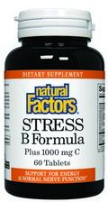 Stress Formula- Vitamin B (25 mg) & Vitamin C (1000 mg)  (60 tablets)* Natural Factors