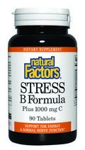 Stress Formula- Vitamin B (25 mg) & Vitamin C (1000 mg)  (90 tablets)* Natural Factors
