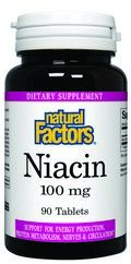 Vitamin B-3 Niacin (100 mg 90 tablets)* Natural Factors