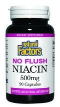 No-Flush Niacin (500 mg 90 capsules)* Natural Factors