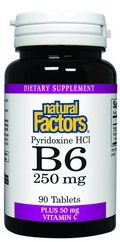 Vitamin B-6 Pyridoxine HCL (250 mg  90 tablets)* Natural Factors