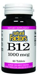 Vitamin B-12 Time Release (1000 mcg 60 tablets)* Natural Factors