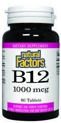 Vitamin B-12 Time Release (1000 mcg 60 tablets)* Natural Factors