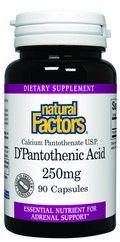 D'Pantothenic Acid - Vitamin B-5 (250 mg 90 capsules)* Natural Factors