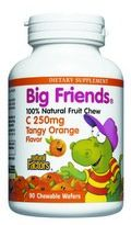 Big Friends Vitamin C (250 mg 90 Orange Chewable tablets)* Natural Factors