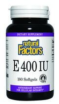 Vitamin E Mixed d-Alpha Tocopherol (400 IU 180 softgels)* Natural Factors