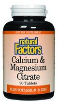 Calcium & Magnesium Citrate (250 mg-250 mg 90 tablets)* Natural Factors