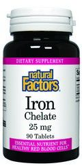 Iron Chelate (25 mg 90 tablets)* Natural Factors