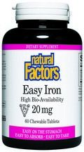 Easy Iron (20 mg 60 chewable tablets)* Natural Factors