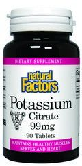 Potassium Citrate  (99mg 90 tablets)* Natural Factors