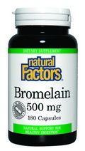 Bromelain (500 mg 180 capsules)* Natural Factors