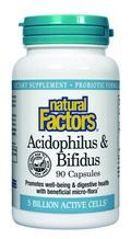 Acidophilus & Bifidus with Goat Milk - 5 billion active cells (90 capsules)* Natural Factors