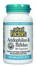 Acidophilus & Bifidus with Goat Milk - 5 billion active cells (90 capsules)* Natural Factors