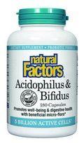 Acidophilus & Bifidus with Goat Milk - 5 billion active cells (180 capsules)* Natural Factors