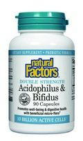 Acidophilus & Bifidus with Goat Milk- Double Strength -10 billion active cells (90 capsules)* Natural Factors