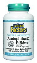 Acidophilus & Bifidus with Goat Milk- Double Strength -10 billion active cells (180 capsules)* Natural Factors