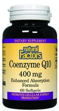 Coenzyme Q10 (400mg  60 softgels)* Natural Factors
