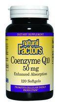 Coenzyme Q10 (50 mg 120 softgels)* Natural Factors