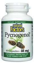 Pycnogenol- Pine Bark (25 mg 60 capsules)* Natural Factors